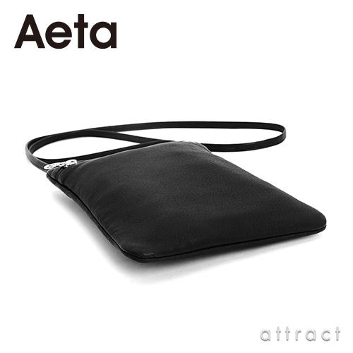 Aeta アエタ DEER LEATHER FLAT POUCH SHOULDER レザーフラットポーチショルダー DA07 タイプB