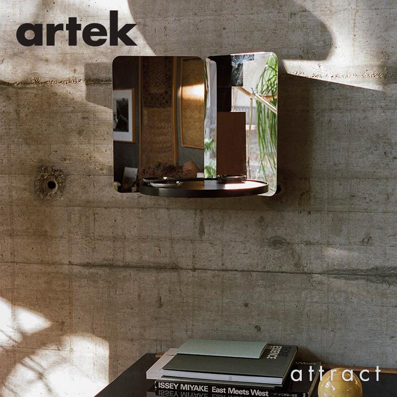 Artek アルテック 124° MIRROR ミラー ウォールミラー 壁掛け 床置き (Mサイズ) ウッドトレー付属 カラー:2色 デザイン:ダニエル・リーバッケン