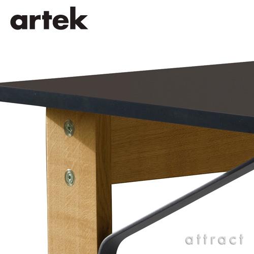 Artek アルテック KAARI DESK カアリデスク REB005 サイズ:150cm×65cm 厚み2.4cm 天板(ブラックリノリウム) 脚部(ナチュラルオーク) デザイン:ロナン&エルワン・ブルレック