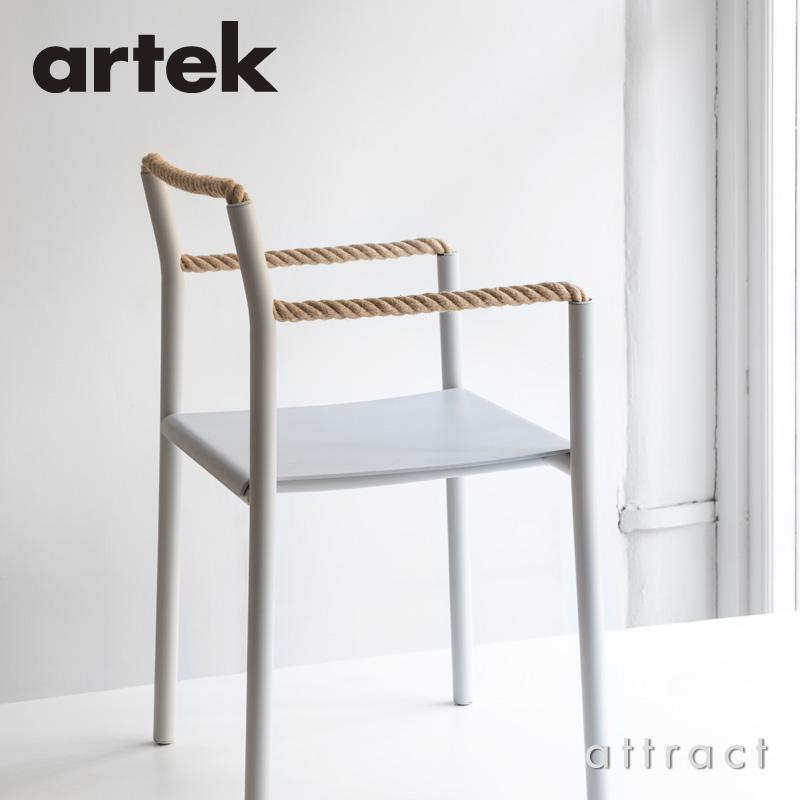 Artek アルテック Rope Chair ロープ チェア カラー:ブラック、ライトグレー アッシュ 塗装仕上げ デザイン:ロナン&エルワン・ブルレック