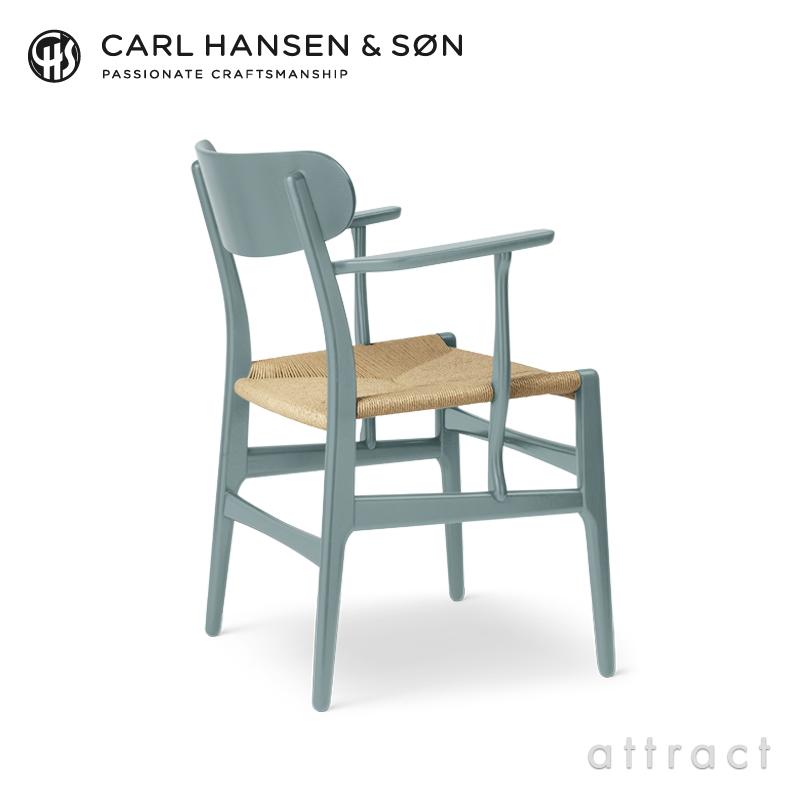【期間限定・特別色】Carl Hansen & Son カールハンセン & サン CH26 アームチェア オーク材 セミグロス 塗装 カラー:5色 ナチュラルペーパーコード デザイン:ハンス・J・ウェグナー