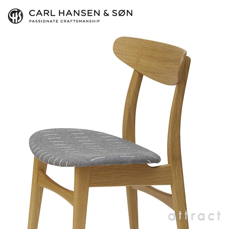 Carl Hansen & Son カールハンセン&サン CH30 アームレスチェア オーク (オイルフィニッシュ) 座:エレノア・プリチャード Aerial (エアリアル ファブリック) デザイン:ハンス・J・ウェグナー