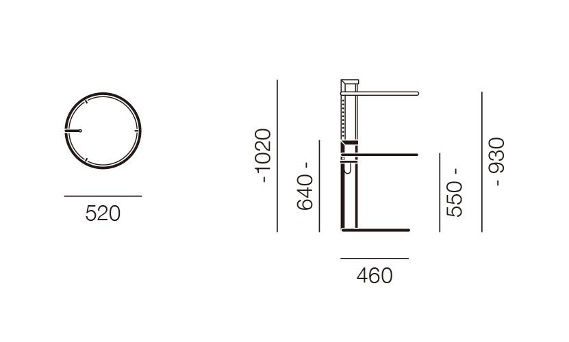 ClassiCon クラシコン Adjustable Table E 1027 アジャスタブルテーブル サイドテーブル デザイン:アイリーン・グレイ