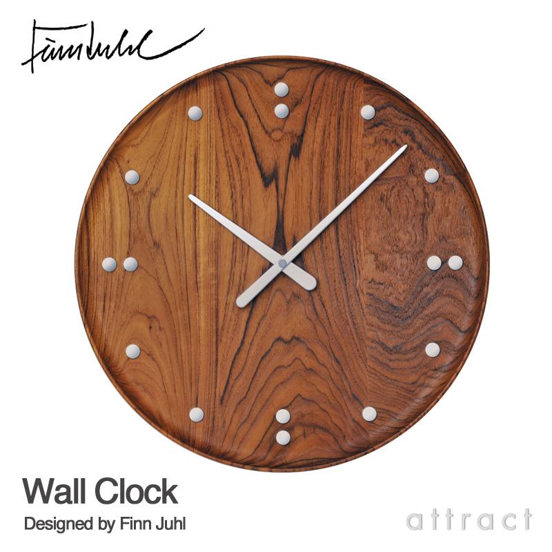 ARCHITECTMADE アーキテクトメイド Finn Juhl フィンユール FJ Clock Wall Clock ウォールクロック 掛時計 780 サイズ:Φ345mm カラー:ブラウン デザイン:フィン・ユール