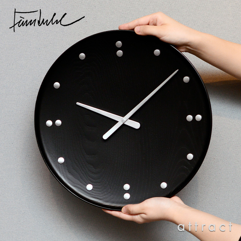 ARCHITECTMADE アーキテクトメイド Finn Juhl フィンユール FJ Clock Wall Clock ウォールクロック 掛時計 782 サイズ:Φ345mm カラー:ブラック デザイン:フィン・ユール