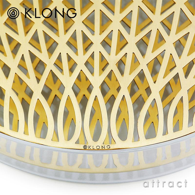 KLONG クロング ANG VASE Mega メガ Ø40cm フラワーベース 花器 カラー:ブラス デザイン:エヴァ・シルト