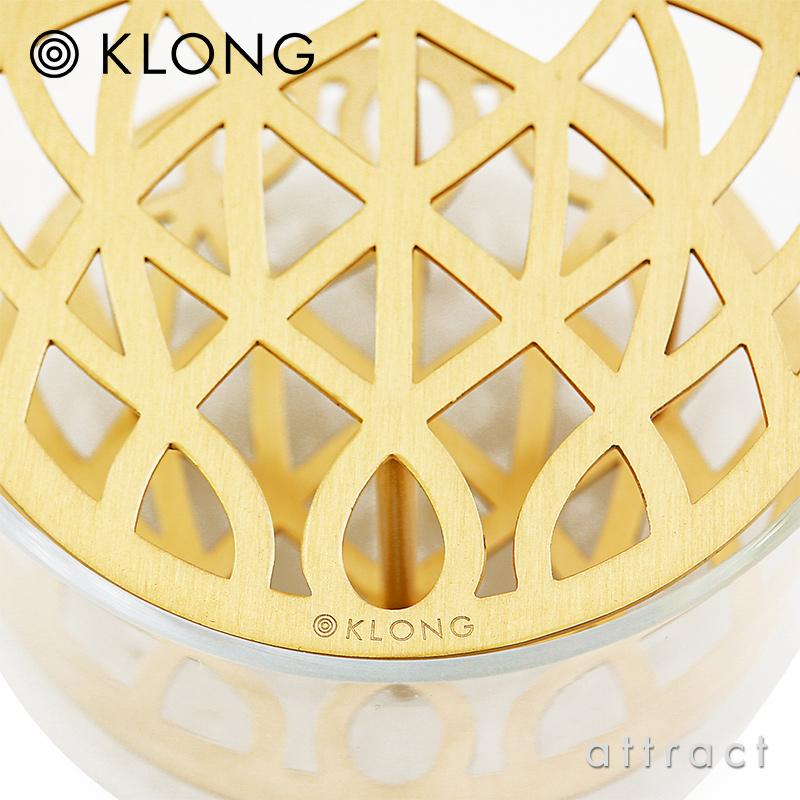 KLONG クロング ANG VASE Small スモール Ø12.5cm フラワーベース 花器 カラー:ブラス デザイン:エヴァ・シルト
