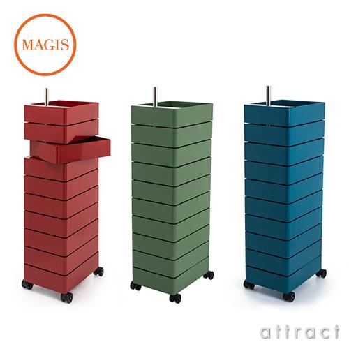 MAGIS マジス 360° Container 10段トレイ キャスターワゴン カラー:8色 デザイン:コンスタンチン・グルチッチ SD270