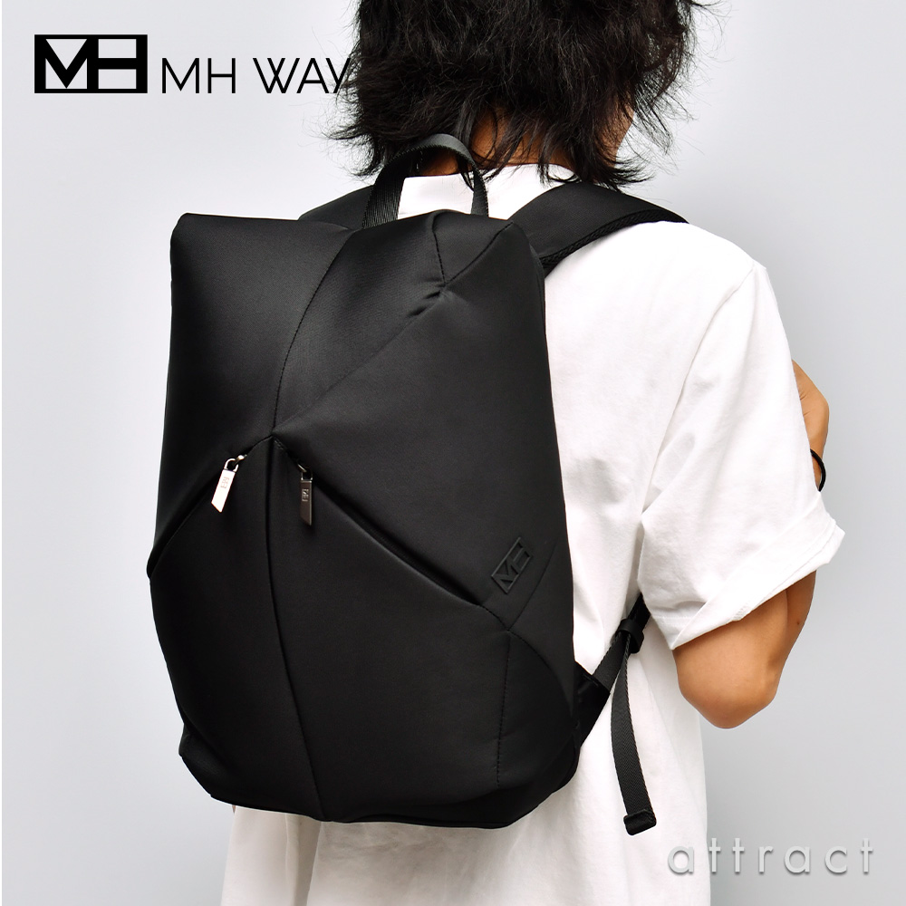 MH WAY エムエイチウェイ STONE BACKPACK ストーン バックパック リュックサック MH-013 カラー:ブラック デザイン:ジョイア・ジョヴァンネッラ