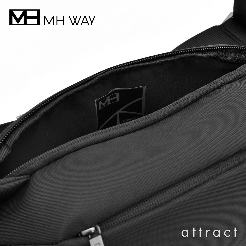 MH WAY エムエイチウェイ STONE WAIST BAG ストーン ウエストバッグ ショルダーバッグ MH-015 カラー:ブラック デザイン:ジョイア・ジョヴァンネッラ