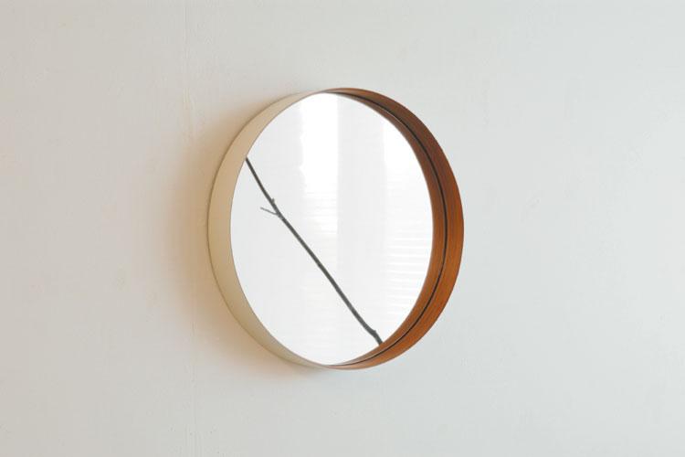 TEORI テオリ ZERO ゼロ ミラー 鏡 Mサイズ Φ40cm 丸形ミラー 丸型ミラー 壁掛けミラー カラー:2色 デザイン:加藤 弘之