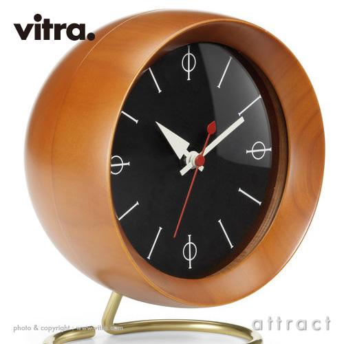 Vitra ヴィトラ Desk Clocks デスククロック Chronopak クロノパック テーブルクロック 置き時計 カラー:ウォルナット ムーブメント:ドイツ製クオーツ デザイン:ジョージ・ネルソン