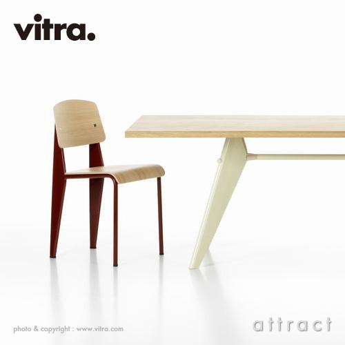Vitra ヴィトラ EM Table イーエムテーブル サイズ:180cm 天板:ナチュラルオーク オイル仕上げ ベースカラー:2色 デザイン:ジャン・プルーヴェ