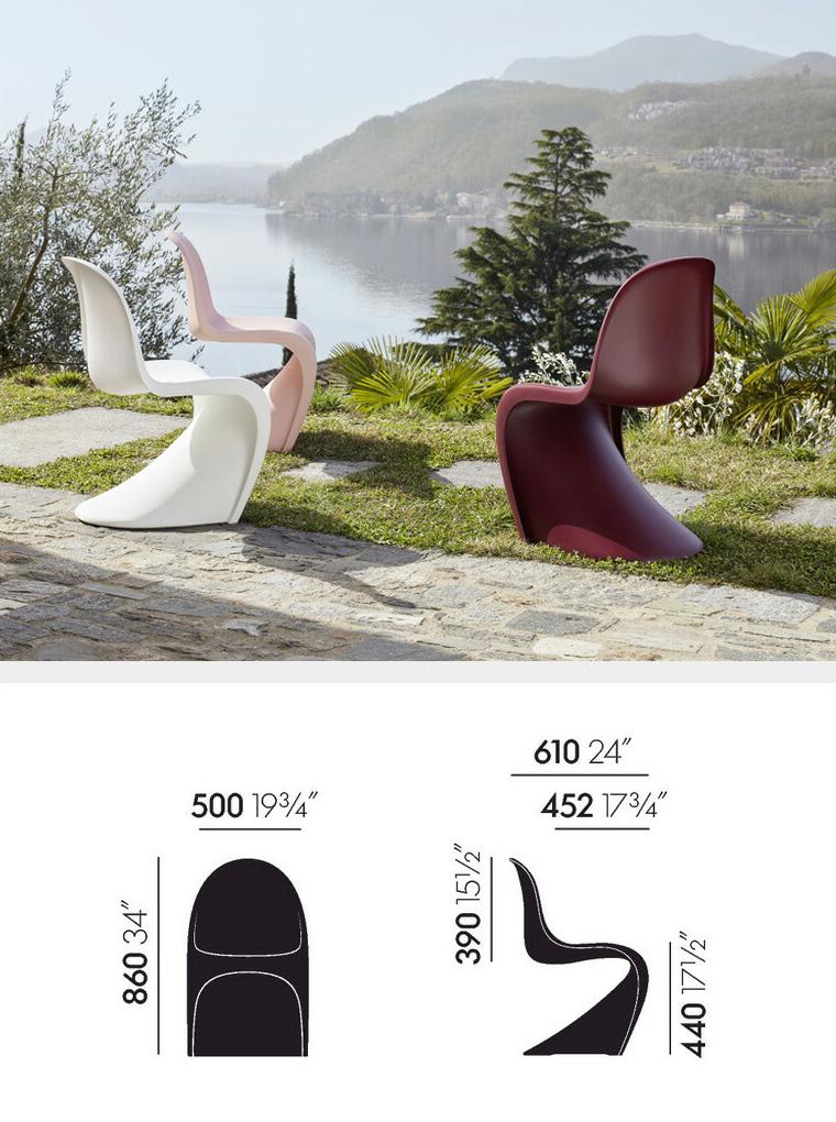 Vitra ヴィトラ Panton Chair パントンチェア カラー:7色 ポリプロピレン アウトドア・スタッキング可能 デザイン:ヴェルナー・パントン