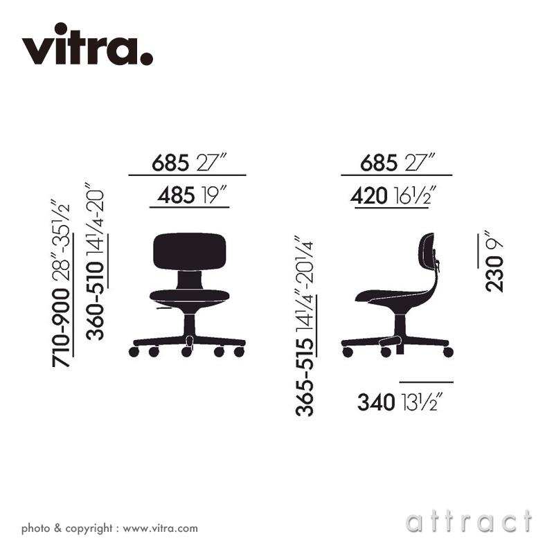 Vitra ヴィトラ Rookie ルーキー タスクチェア カラー:4色 ファブリック F30 Plano プラノ デザイン:コンスタンチン・グルチッチ