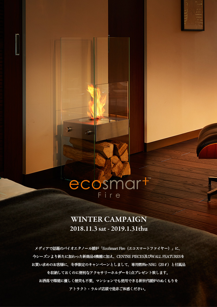 EcoSmart Fire Winter Campaign (エコスマートファイヤー ウィンターキャンペーン)