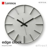 Lemnos レムノス edge clock エッジクロック AZ-0115 ウォールクロック Lサイズ Φ350mm カラー:3色 デザイン:AZUMI