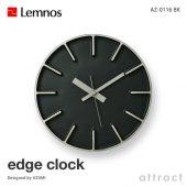 Lemnos レムノス edge clock エッジクロック AZ-0116 ウォールクロック Sサイズ Φ180mm カラー:3色 デザイン:AZUMI
