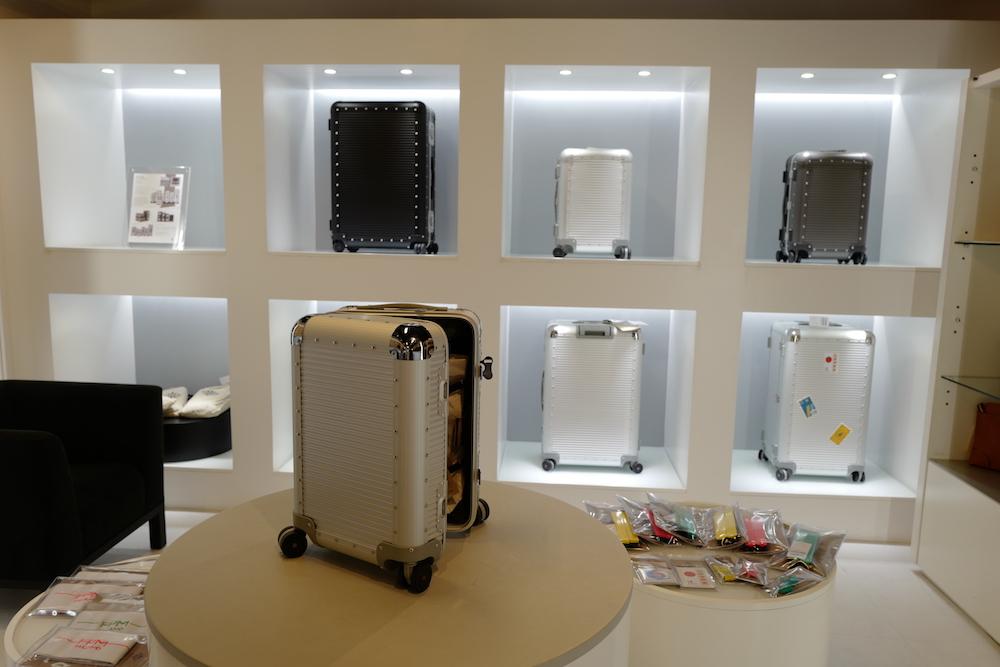 注目のスーツケースブランド「FPM」のポップアップイベント開催中です。