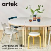 【数量限定】Artek アルテック グレーラミネート テーブル80A・テーブル90A・テーブル95 デザイン:アルヴァ・アアルト
