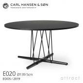 Carl Hansen & Son カールハンセン&サン E020 Embrace Table エンブレイス テーブル ダイニングテーブル サイズ:Φ139.5×H74cm オーク ブラック塗装 支柱:ブラック デザイン:Eoos イーオス