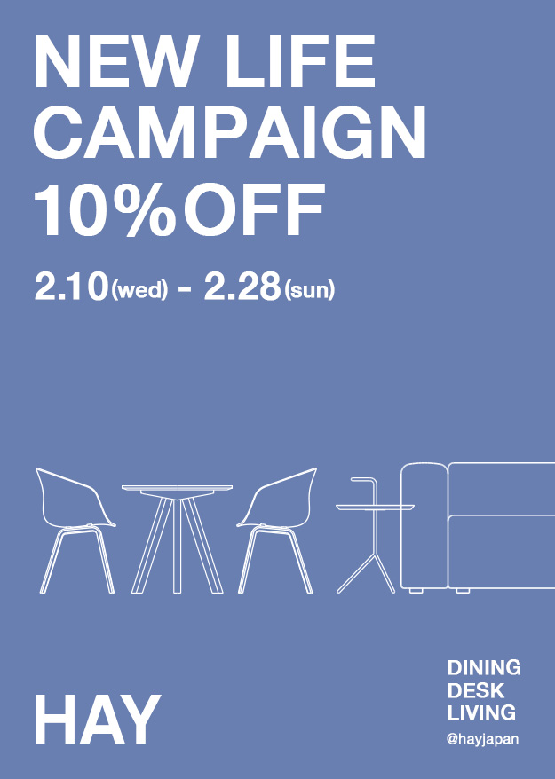 NEW LIFE CAMPAIGN 10%OFF