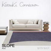 Katsuki Connection カツキ コネクション Rug ラグ COLLAGE コラージュコレクション SLOPE スロープ ウールラグ 非ミュージングウール デザイン:香月 裕子