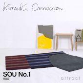 Katsuki Connection カツキ コネクション Rug ラグ INUUNIQ イニュニック コレクション SOU ソウ No.1 ウールラグ 非ミュージングウール デザイン:香月 裕子