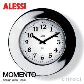 ALESSI アレッシィ MOMENTO モメント ウォールクロック Φ400mm カラー:ステンレス ミラー仕上げ デザイン:アルド・ロッシ