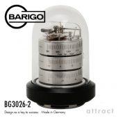 BARIGO バリゴ 温湿気圧計 BG3026-2 Φ120mm カラー:シルバー (ドーム型気象計・木製ベース)